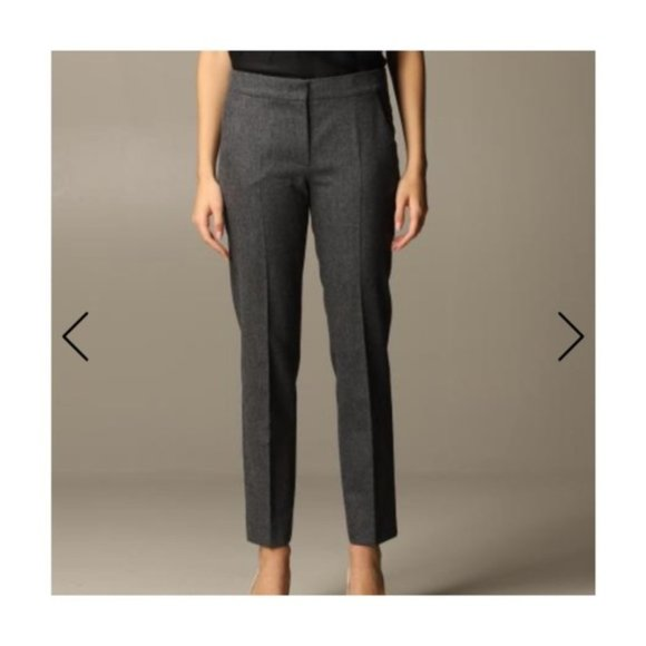 Max Mara Trousers Wool Angora Cashmere Heathered